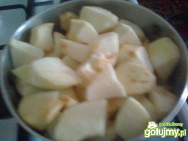 Rolada biszkoptowa z jabłkami,