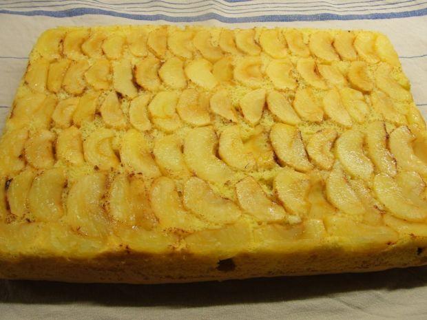 Rolada biszkoptowa z jabłkami od Zbysiowej