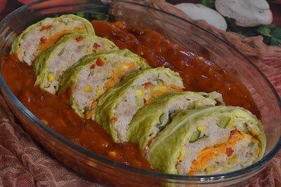 Rolada gołąbkowa w sosie meksykańskim