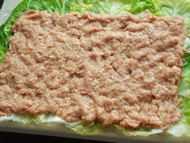 Rolada lasagne z młodą kapustą