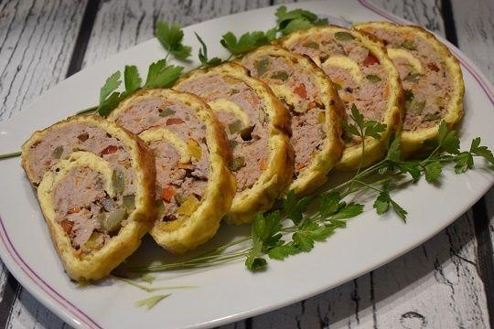 Rolada serowa z mielonym mięsem