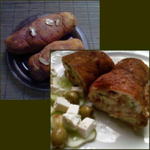 Rolada z fetą, papryką, oliwkami.....