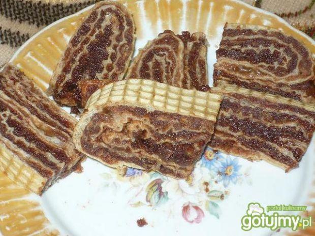Rolada z masą kakaową