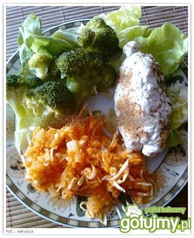 Rolada z piersi kurczaka z grzybami na p