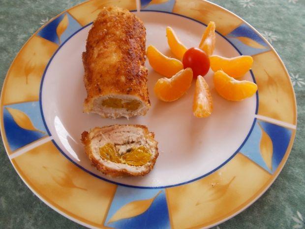 Roladka  z mandarynką i tymiankiem