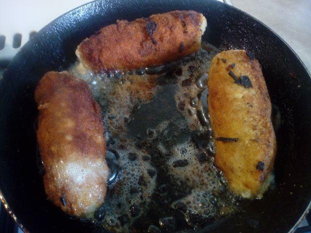 Roladki schabowe z fasolką i serem