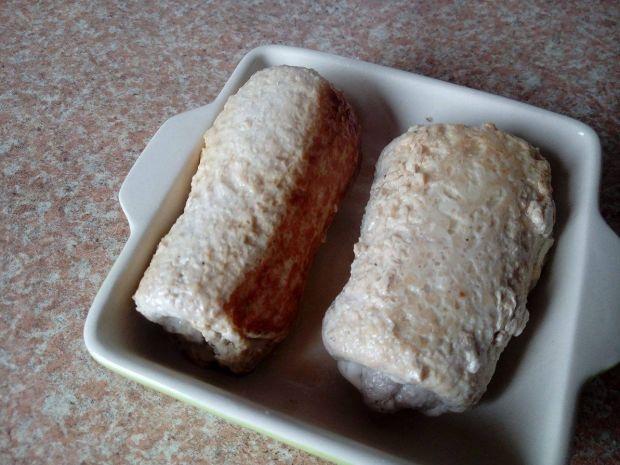 Roladki schabowe z mozzarellą i szpinakiem