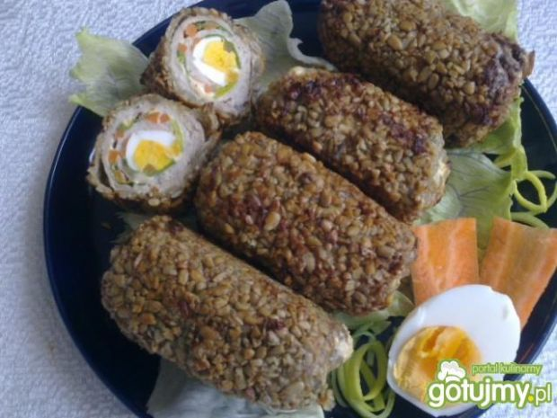 Roladki z jajkiem