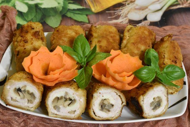 Roladki z pieczarkami i mozzarellą