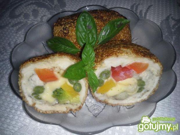 Roladki z warzywami w sezamie