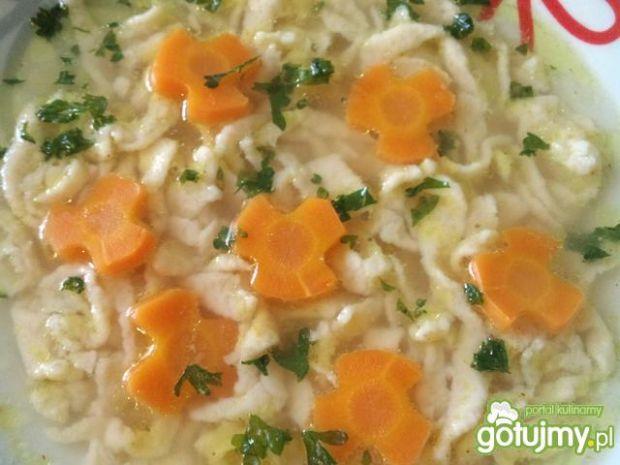 Rosołek z curry i lanymi kluskami