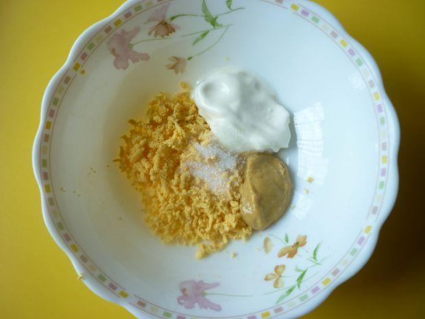 Roszponka z papryką i kukurydzą