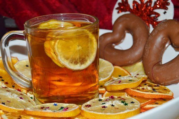 Rozgrzewająca herbata imbirowo-pomarańczowa
