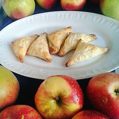 Różki francuskie z jabłkami