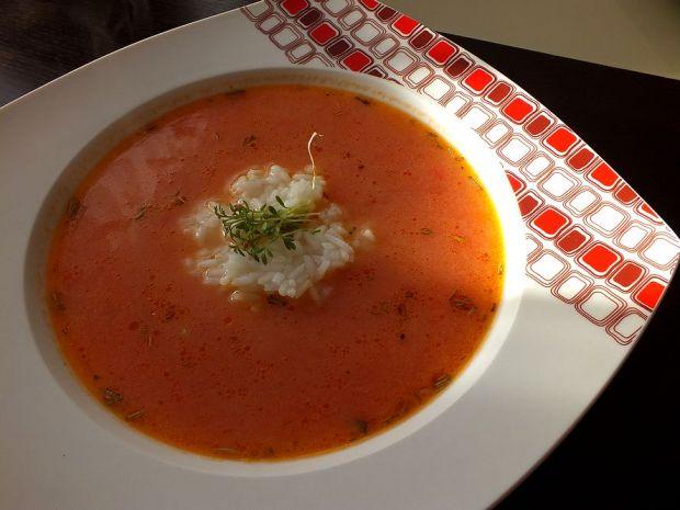 Rozmarynowa zupa z pomidorów