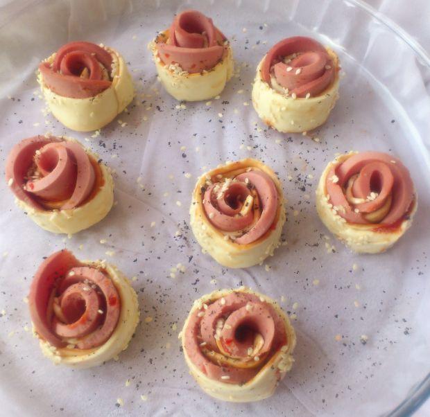 Różyczki z ciasta francuskiego wg Di