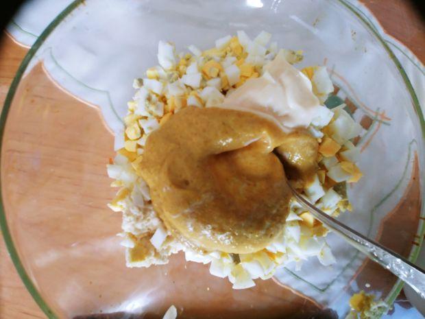 Ruloniki z szynki z farszem jajecznym