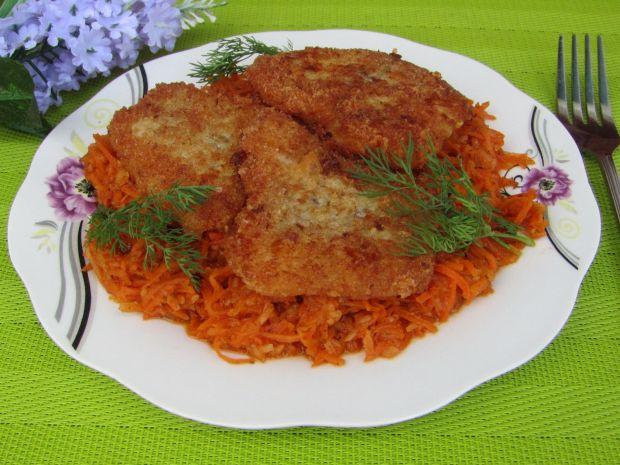 Ryba z zasmażanymi warzywami