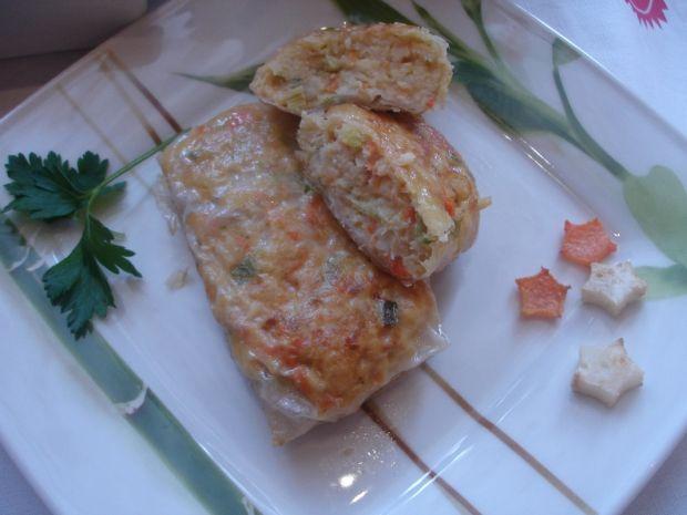 Rybne sajgonki z sosem na bazie pora