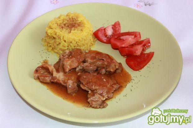 Ryż z curry z mięskiem