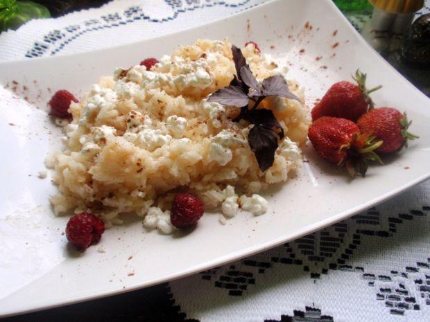 Ryż z jabłkiem  z patelni