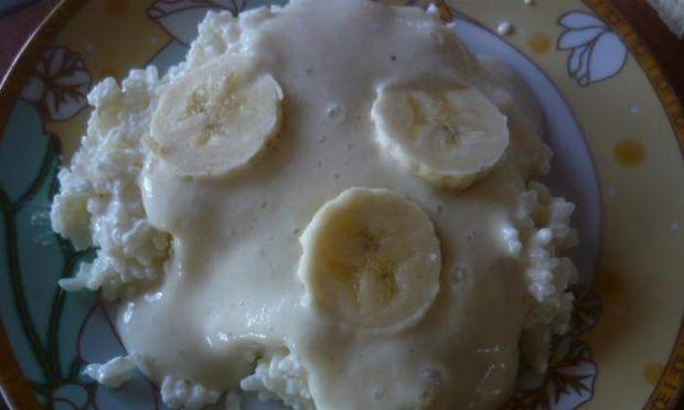 Ryż z jogurtem bananowym