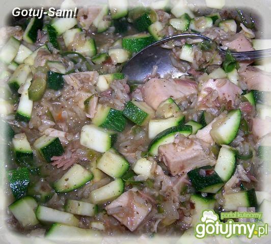 Ryż z kurczakiem na zielono