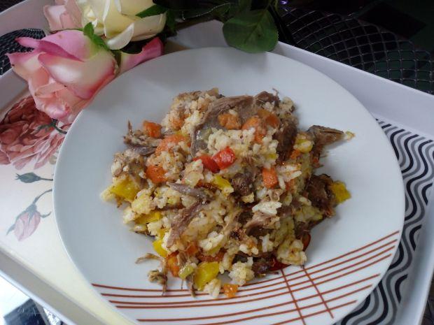 Ryż z kurczakiem z rosołu i warzywami