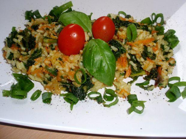Ryż z marchewka  z patelni