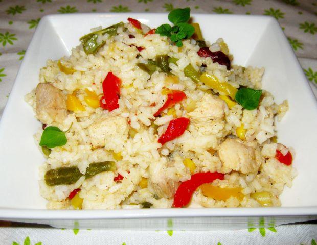 Ryż z mięsem i warzywami