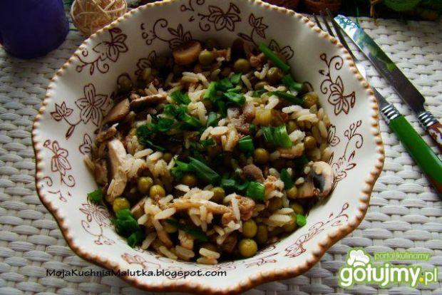Ryż z pieczarkami i groszkiem