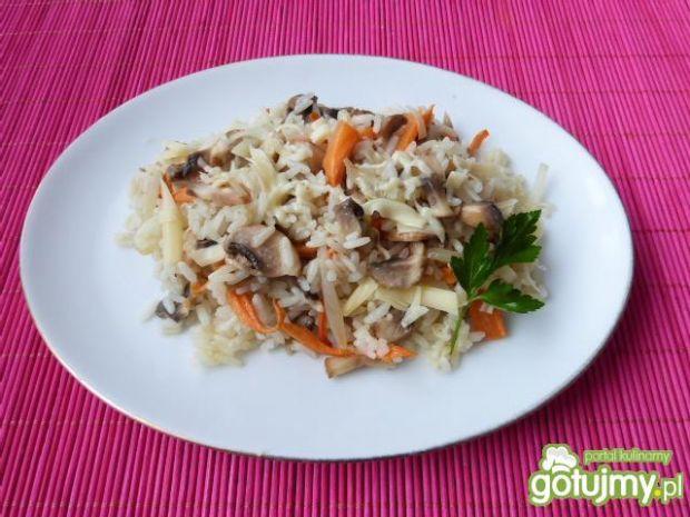 Ryż z pieczarkami i warzywami
