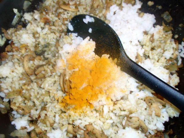 Ryż z pieczarkami z patelni