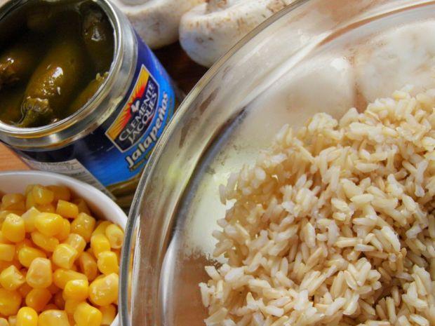 Ryż z warzywami i papryczką jalapeno