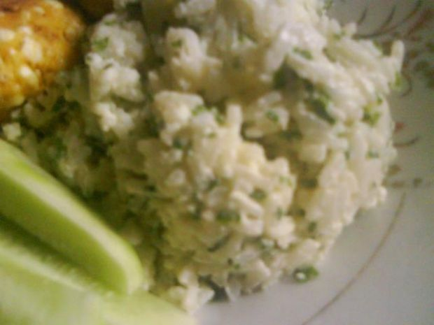Ryż z ziołami i majonezem