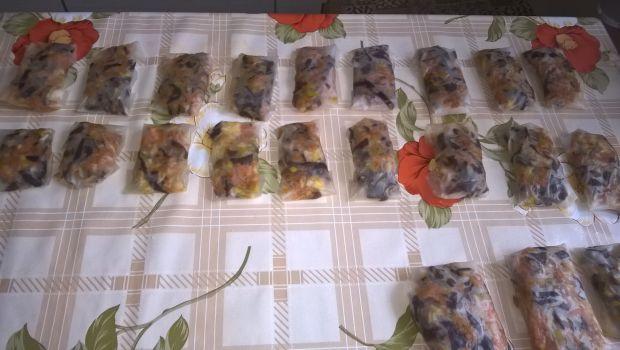Sajgonki z grzybami i warzywami