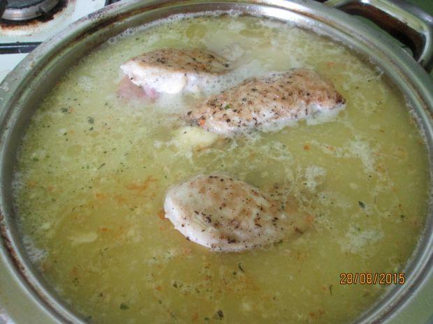 Sakiewki w sosie chrznaowy