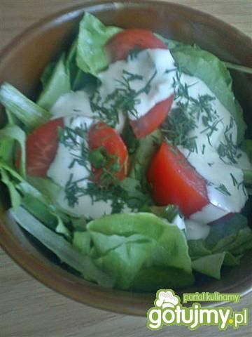 Sałata masłowa z sosem czosnkowym