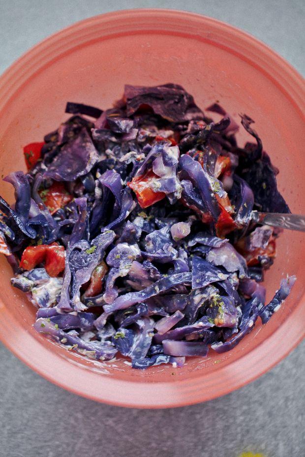 Sałatka fioletowa na ostro