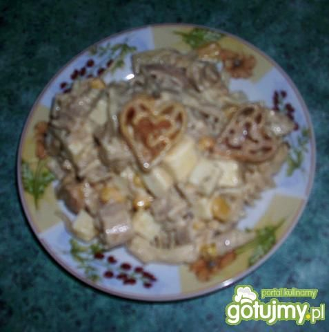 Sałatka gyros,ananas,ser... wg Dorci