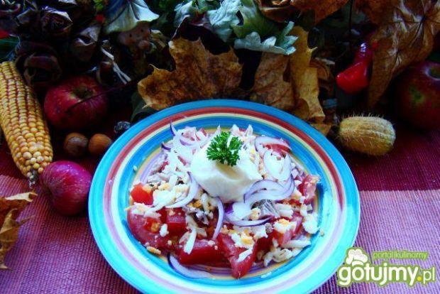 Sałatka jajeczno-pomidorowa