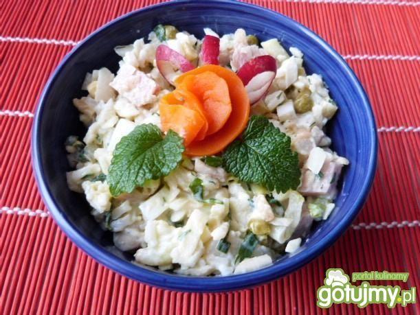 Sałatka mix warzywny z szynką