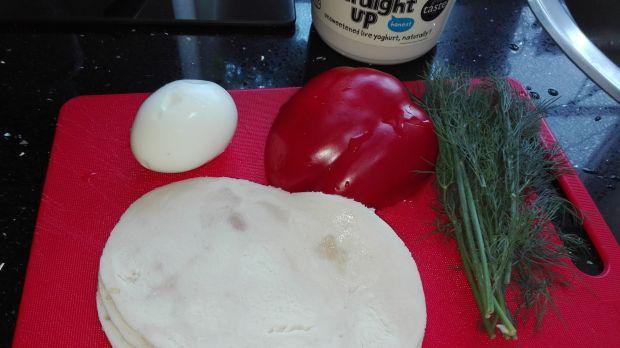 Sałatka nr 8 Szynka z jajkiem Dieta 1200 kalorii