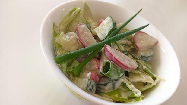 Sałatka obiadowa z sosem czosnkowym