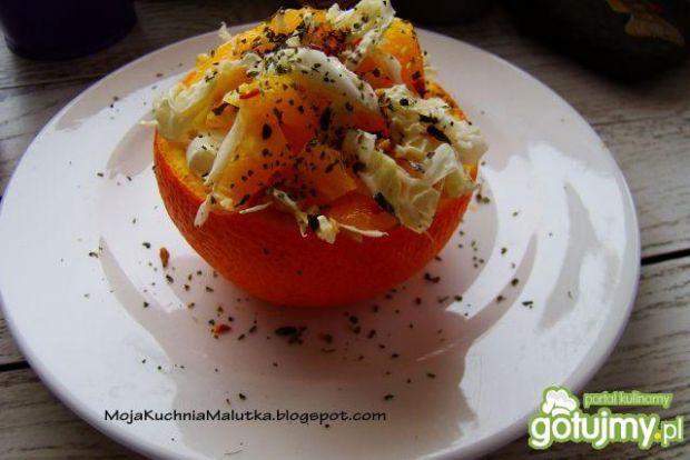 Sałatka pekińska z pomarańczą