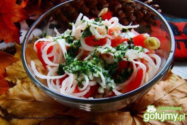 Sałatka pomidorowo-porowa