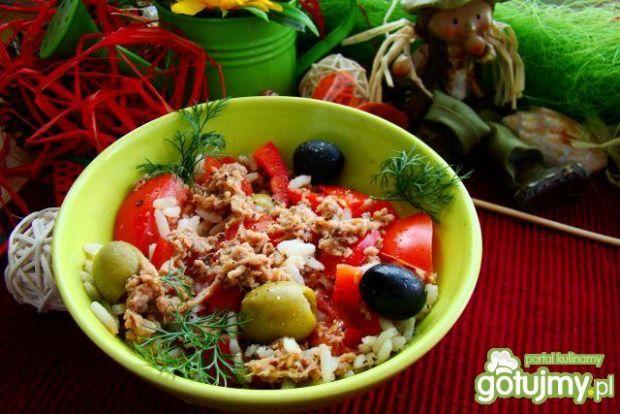 Sałatka pomidorowo ryżowa