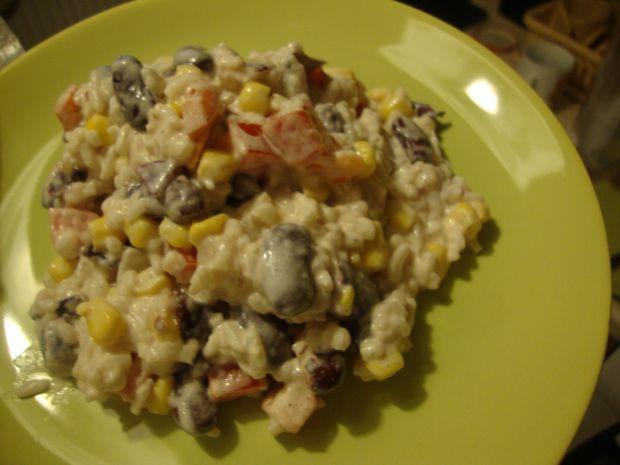 """Sałatka ryżowa """"kolorowa"""""""