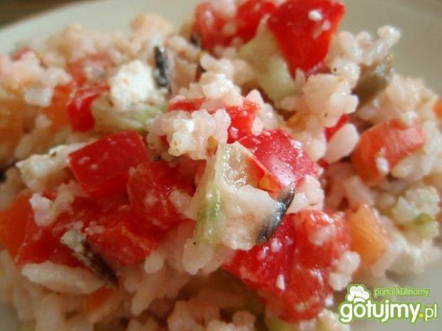 Sałatka ryżowa z fetą