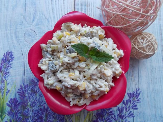 Sałatka ryżowa z porem